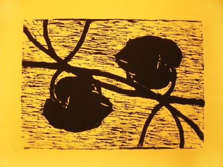Zwei -  Linolschnitt von Juliane Bodewei